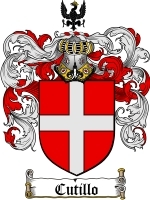 Cutillo Family Crest / Coat of Arms JPG or PDF Image Download