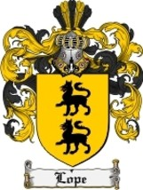 Lope Family Crest / Coat of Arms JPG or PDF Image Download - $6.99