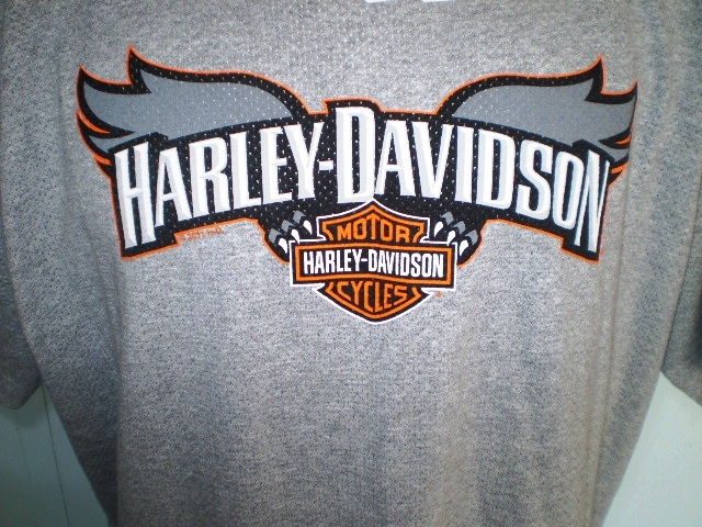 Harley Davidson Gray Perforated T Shirt Xl Batavia Ny T