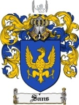 Sans Family Crest / Coat of Arms JPG or PDF Image Download - $6.99