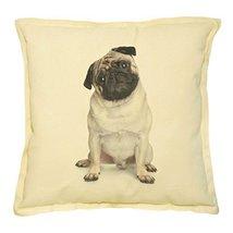 Vietsbay's Funny Pug Puppy Prints Khaki Decorative Pillows Cover Case VPLC - €13,99 EUR