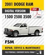 2001 Dodge Ram Truck 1500 2500 3500 Factory Repair Service Manual - $15.00