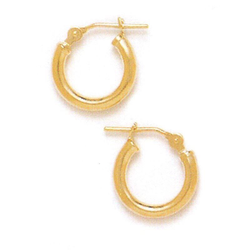 14K Solid Yellow Gold Classic Hoop Earrings ER-HE33