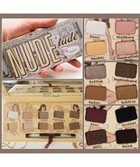 Nude Tude Natural 12 Earth Tones Eye Shadow Palette with Applicator Brush  - $23.95