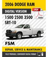 2006 Dodge Ram Trucks 1500 2500 3500 SRT-10 Factory Repair Service Manual - $15.00