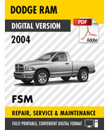 2004 Dodge Ram Truck 1500 2500 3500 4000 DX Factory Repair Service Manual - $15.00