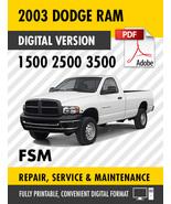 2003 Dodge Ram Truck 1500 2500 3500 Factory Repair Service Manual - $15.00