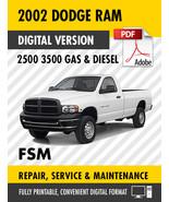 2002 Dodge Ram 2500 3500 Trucks Gas Diesel Factory Repair Service Manual - $15.00