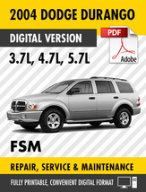 2004 Dodge Durango 3.7 4.7 5.7L Factory Repair Service Manual - $15.00