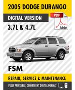 2005 Dodge Durango 3.7L 4.7L Factory Repair Service Manual - $15.00