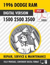 1996 Dodge Ram Truck 1500 2500 3500 Factory Repair Service Manual - $15.00