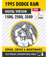 1995 Dodge Ram Truck 1500 2500 3500 Factory Repair Service Manual - $15.00