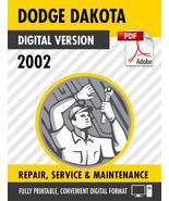 2002 Dodge Dakota Factory Repair Service Manual - $15.00