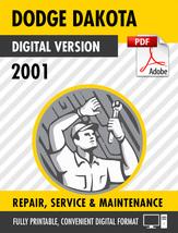 2001 Dodge Dakota Factory Repair Service Manual - $15.00