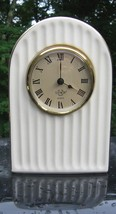Lenox Quartz Mantle Clock Porcelain 24k Gold Trim Fine Bone China        - $19.78