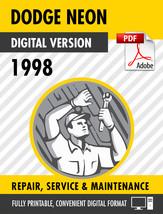 1998 Dodge Neon Factory Repair Service Manual - $15.00