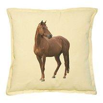 Vietsbay's Handsome Horse Prints Khaki Decorative Throw Pillows Cover Ca... - €13,99 EUR