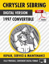 1997 Chrysler Sebring Convertible Factory Repair Service Manual - $15.00