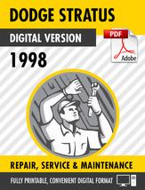 1998 Dodge/Chrysler/Plymouth Stratus Cirrus Breeze Factory Repair Servic... - $15.00