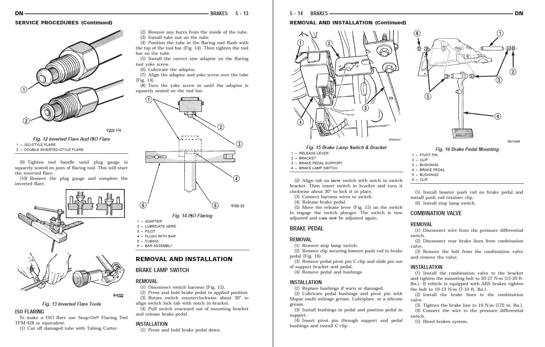 2000 Dodge Durango 4.2L 5.2L 5.9L Factory Repair Service Manual