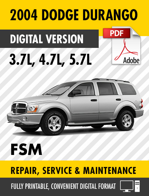 2004 Dodge Durango 3.7 4.7 5.7L Factory Repair Service Manual