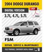 2004 Dodge Durango 3.7 4.7 5.7L Factory Repair Service Manual - $15.00