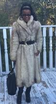Fab Designer Full length White beige Fox Fur coat jacket bolero Stroller S 0-6 - $599.00