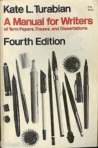 A Manual for Writers of Term Papers,Theses and Dissertations;1973 PB;4th... - $7.63