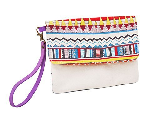 Vietsbay's Women Vintage Aztec Patterns 17 Canvas Wallet Clutch Wristlet Purse