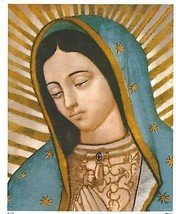 Catholic Print Picture Our Lady Of Guadalupe Virgin Mary 8x10 Ready To Frame - $14.01