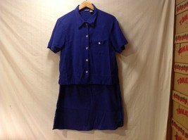 Chico's Womens Two piece Royal Blue Skirt and Blouse