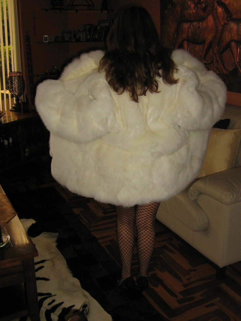 Midi pelt jacket,coat made of Babyalpaca fur,outerwear