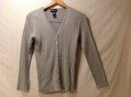 Style & Co. Sparkly Gray Cardigan Sweater, Size Small