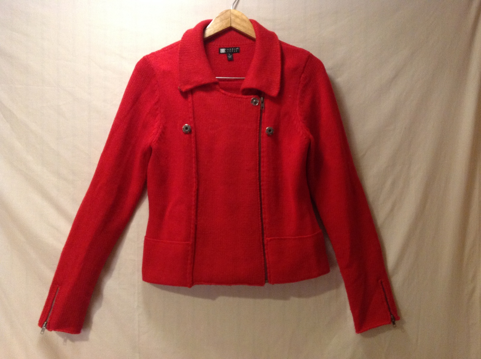 Carole Little Womens Red Sweater, Size Large