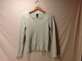 GAP Womens Light Green Pullover Sweater, Size Large