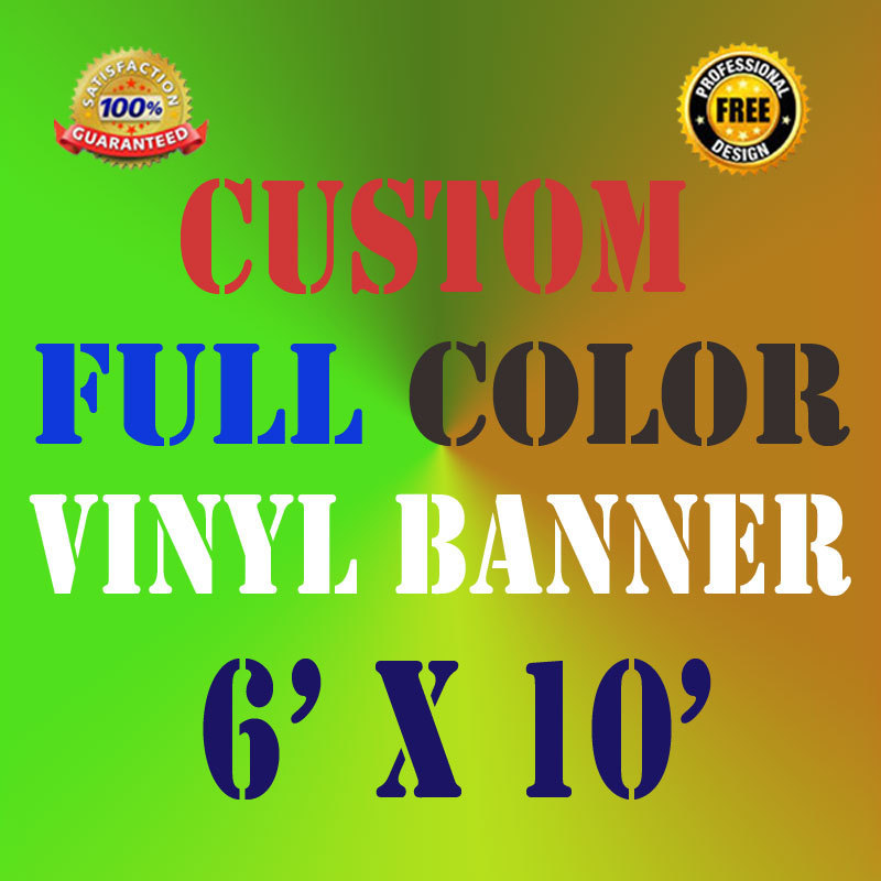 4/'X10/' Full Color Custom Banner 13oz Vinyl Outdoor Personalized Signs Advertise