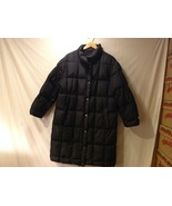Gallery Womens Black Long Winter Coat, Size XL - $34.99