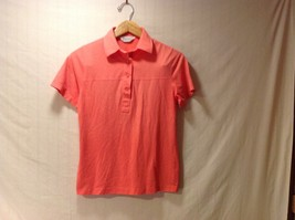 Lilly Dache Womens Coral Orange Polo Style Shirt, Size Medium