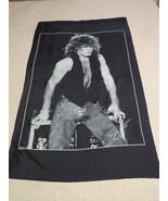 Jon Bon Jovi Silk Banner / Flag - From Mid 1980's - Hair Metal Goodness - $85.00