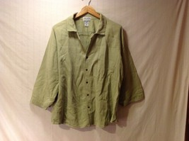 Cord Cotton Collection Ezze Wear Womens Button Up Shirt, Size XL