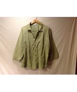Cord Cotton Collection Ezze Wear Womens Button Up Shirt, Size XL - $39.99
