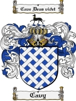 Primary image for Cavy Family Crest / Coat of Arms JPG or PDF Image Download