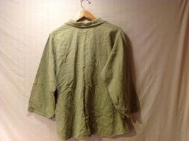 Cord Cotton Collection Ezze Wear Womens Button Up Shirt, Size XL image 2