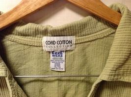 Cord Cotton Collection Ezze Wear Womens Button Up Shirt, Size XL image 8