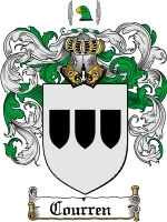 Courren Family Crest / Coat of Arms JPG or PDF Image Download