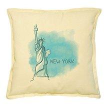 Vietsbay's New York Prints Khaki Decorative Throw Pillows Cover Case VPLC - $15.99