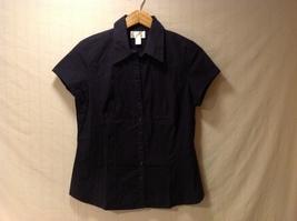 Ann Taylor Womens Navy Blue Button Up Shirt, Size 12 - $39.99