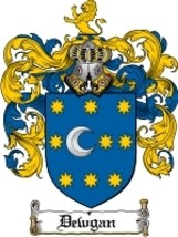 Dewgan Family Crest / Coat of Arms JPG or PDF Image Download - $6.99