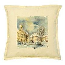 Vietsbay's City Hall in Winter Prints Khaki Decorative Pillows Cover Cas... - €13,99 EUR