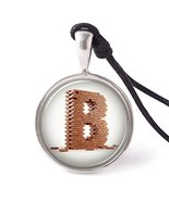 Vietsbay's Letter B Necklace Pendants Pewter Silver - £7.87 GBP
